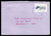 Lot 4368:2000 Paralympic Games label, cancelled with poor Dandenong of 12SEP2000, on cover to Blackburn.