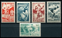 Lot 24964:1948 London Olympics set of 5, 343-7.