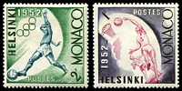 Lot 24966 [2 of 2]:1953 Helsinki Olympics set of 6, Mi #458-63.
