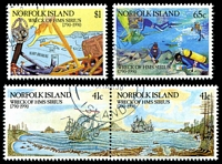 Lot 4461:1990 H.M.S. Sirius SG #479-2 set of 4, CTO.