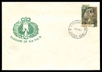 Lot 1697:Kongorong: - 'KONGORONG/26AP88/S-AUST-5291', on unaddressed 37c Wombat PSE with Closure of S.A. P.O.'s cachet.  RO 18/4/1912; PO 1/1/1924; CMA 26/4/1988.
