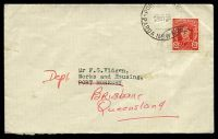 Lot 4158:Port Moresby: 2½d scarlet KGVI, cancelled with 'PO[RT MORES]BY/23MY50/PAPUA NEW GUINEA