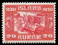 Lot 3974:1930 1000 Years of Goverment SG #163 20a red & rose, Cat £39.