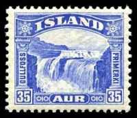 Lot 3975:1931-32 Waterfall SG #197 35a blue, Cat £22.