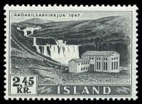 Lot 21302:1956 Electricity & Waterfalls 2.45k black, SG #3.40 Cat £7.50.