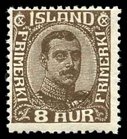 Lot 3641:1920 Christian X SG #121 8a brown.