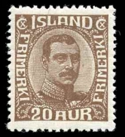 Lot 4158:1921-22 Christian X SG #134 20a brown, Cat £60.