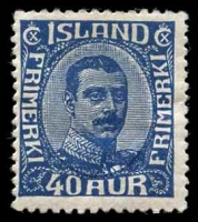 Lot 4159:1921-22 Christian X SG #136 40a blue, Cat £75, hinge fragment.