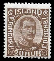 Lot 3868:1921 Christian X SG #134 20a brown, Cat £60.
