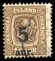 Lot 3642:1921 Overprints SG #137 5a on 16a brown & dark brown, Cat £28.