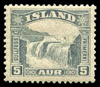 Lot 3871:1931-32 Waterfalls SG #195 5a grey, Cat £11.50.