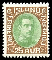 Lot 3645:1931-37 Christian X SG #188 25a brown & green, Cat £20.