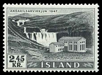 Lot 23090:1956 Electricity & Waterfalls 2.45k black, SG #3.40 Cat £7.50.