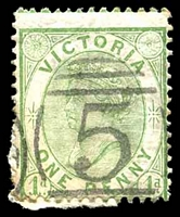 Lot 11719:5: right half of 8th duplex on 1d green Bell.  Allocated to Ballarat-PO 1/11/1851.