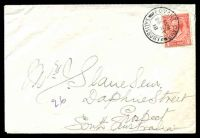 Lot 3693:1918 use of 1d red KGV, cancelled with double-circle 'FOVANT CAMP/630PM/26MY/18/SALISBURY' (A1), on cover to Prospect, SA.