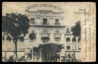Lot 448 [1 of 2]:Egypt: Lichtenstern & Harari black & white PPC of 'Cairo, Continental Hotel', franked with 2m green, to Sydney, NSW, quite toned.