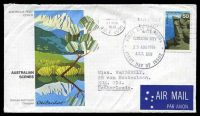 Lot 725:APO 1976 Australian Scenes 50c Mount Buffalo on illustrated FDC, cancelled with Canberra City FDoI of 25AUG1976, to Ede, Netherlands by air, neat typed address.