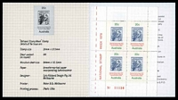 Lot 3434:1978 National Stamp Week BW #824 80c minisheet in Australian Stamp Promotion Council booklet.