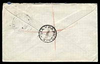 Lot 3067 [3 of 3]:Parkdale: - WWW #10B 'PARKDALE/10NO58/VIC.' (A1 backstamp) on 1/- Lyrebird & 3½d red QEII x2 on cover to Melbourne with blue C6 registration label.  RO 6/1/1921; PO 1/12/1923; LPO 1/11/1993.
