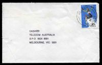 Lot 15515:Falls Creek: - 'RELIEF/30AU84/91/VIC-AUST' on 30c Skiing on cover to Telecom, Melbourne  TO 9/6/1958; PO c.1964; LPO 1/9/1994.