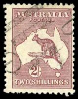 Lot 217:2/- Maroon - BW #39 Cat $50.