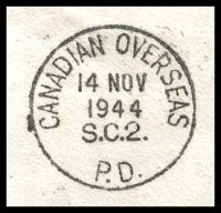 Lot 3594 [3 of 3]:1944 use of GB 2½d blue KGVI, cancelled with 'CANADIAN OVERSEAS/14NOV/1944/S.C.2./P.D.' (A1) machine, to R.N.A.S. Edinburgh, redirected to Ayr & finally to Stockport.