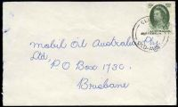 Lot 7343 [1 of 2]:Clifton (2): - 'CLIFTON/445P??63/QLD-AUST' on 5d green Royal Visit on cover to Brisbane.  Renamed from Kings Creek PO c.1869.