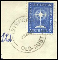 Lot 1526 [2 of 2]:Isisford: - 'ISISFORD/23JA64/QLD-AUST' on 5d blue Christmas on cover to Brisbane.  Renamed from Wittown PO 1/1/1878.