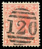 Lot 12062:120: right half duplex on 1d pink.  Allocated to Kerang-PO 1/8/1856; renamed Wedderburn PO 29/7/1858; LPO 2/6/1997.