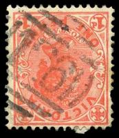 Lot 10470:126: on 1d pink.  Allocated to Kangaroo Flat-PO 2/2/1857; LPO 26/2/1994.