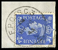 Lot 19963 [2 of 2]:F.P.O. 'F.P.O. S.C.3/AM/MY25/43/2', on GB 2½d blue KGVI, on cover to Cheshire, England. [Rated 75 by Proud]