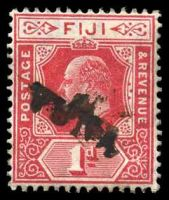 Lot 3445:Vuna (1): straight-line 'VUNA' of 1d scarlet KEVII. [Rated 150 by Proud]  PO c.1890; closed 31/7/1938.