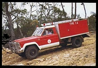 Lot 261:Australia: colour PPC of Type 1.4 CFA Prototype Fire Truck.