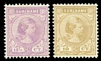 Lot 4372 [2 of 2]:1892 Wilhelmina SG #63-8 set of 6, Cat £95.