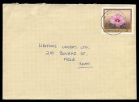 Lot 2543:Koondrook: light 'RELIEF/20AP83/70/VIC-AUST' on 27c Flower envelope to Melbourne. [Used Mar-April 1983.]  PO 1/3/1879; LPO 22/10/1993.