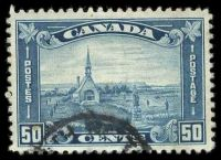 Lot 3431:1930-31 Pictorials Perf 11 SG #302 50c blue, Cat £17.