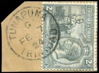 Lot 4747:Tunapuna: 'TUNAPUNA/G/FE7/24/TRINIDAD' on 2d grey.