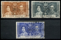 Lot 4114:1937 Coronation SG #117-9 set of 3.
