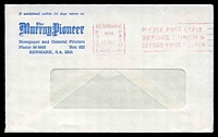 Lot 1839 [2 of 2]:Renmark: - 'RENMARK/PAID/1979/15OCT/PAID/S.AUST 5341' machine in red on Murray Pioneer Newspaper window envelope.  PO 30/6/1888.