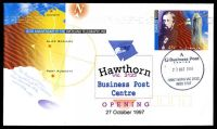 Lot 2475:Hawthorn Business Centre: - WWW #10 'A/Business Post/CENTRE/27OCT1997/HAWTHORN VIC 3122/9920 5707', on Alexander 45c PSE Hawthorn Vic.3122 Business Post Centre opening cover.  Replaced Hawthorn BC 27/10/1997.