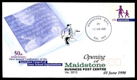 Lot 2635:Maidstone Business Centre: - WWW #30 'MAIDSTONE B.P.C./(3)/1JUN1998/VIC. 3012', on Alexander 45c PSE Opening of Maidstone Business Centre Cover.  BC 1/6/1998; closed 13/10/2000.