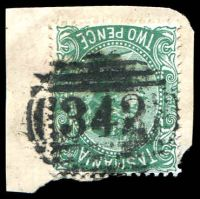 Lot 1778:342: on 2d Sideface. [Rated R]  Allocated to Macquarie Plains R.S.-PO 1/7/1892; renamed Gretna PO 31/12/1906.