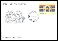 Lot 5642:Cook: - 'COOK/27MR87/ACT-2614' (Closing day) on 36c PSE Philas Closing Day cover, unaddressed.  PO 7/10/1969; closed 27/3/1987.