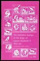 Lot 238:Australia: The Definitive Stamps of the Reign of Queen Elizabeth II 1952-1965 published by Australia Post in 1970s, 59pp, Excellent Used Condition. Paperback.