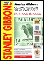 Lot 35:Falkland Islands: Stanley Gibbons Commonwealth Stamp Catalogue Falkland Islands 5th Edition in 2012, 71pp, Excellent Used Condition. Paperback.