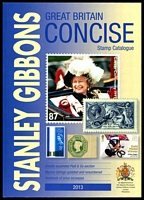 Lot 36:Great Britain: Stanley Gibbons Great Britian Concise Stamp Catalogue 28th Edition in 2013, 418pp, New condition. Paperback.