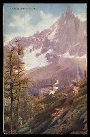 Lot 545 [1 of 2]:Switzerland: F.L. Callier tinted colour PPC of Le Montanvert et le Dru advertising Cailler Chocolate, used at NSW JA3/1907.