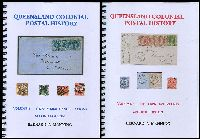 Lot 1177:Queensland Colonial Postal History Volume 1 - The Numeral Cancellations 2nd Edition & Volume 2 - The Town Datestamps 2nd Edition by Bernard A Manning in 2014, Vol 1 - 266 Vol 2 - 304pp, New. Volume 1 contains a complete review of this interesting area of philately, with over 1000 colour illustrations across it's 250+ pages. It offers new information and ratings not only on numerals, but by type, allocation and for different issues. Volume 2 contains a complete review of this interesting area of philately, with over 1000 colour illustrations across it's 290+ pages. Virtually every postmark is illustrated and it offers new information and ratings by type. This is a retail item and is offered at a fixed price.