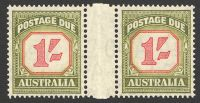 Lot 810:1953-59 New Value Plates For Shilling Values: BW #D139 1/- carmine & yellow-green gutter pair, Cat $40+.