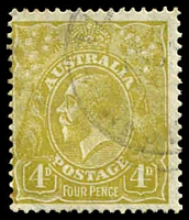 Lot 2628:4d Olive - [4R56] Break on right side of right value shield, small stain in LLC.